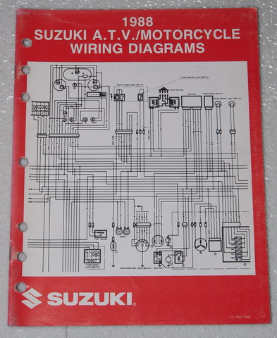 motorcycle repair wiring diagrams 1988 suzuki    motorcycle    and atv electrical    wiring       diagrams     1988 suzuki    motorcycle    and atv electrical    wiring       diagrams