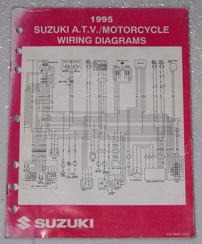 1995 SUZUKI Motorcycle ATV Wiring Diagrams Manual Electrical  Troubleshooting 95 | eBayeBay