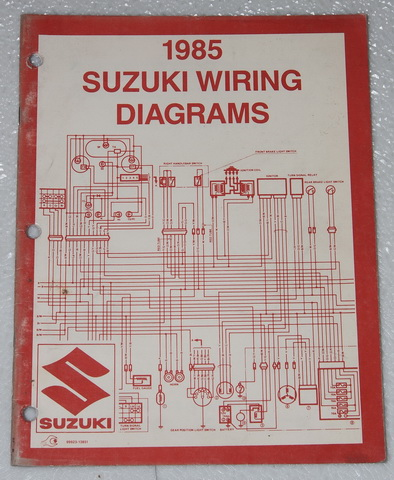 1985 suzuki motorcycle and atv electrical wiring diagrams manual 85 rh ebay com Suzuki Grand Vitara Wiring-Diagram Electrical Wiring Diagrams for Motorcycles