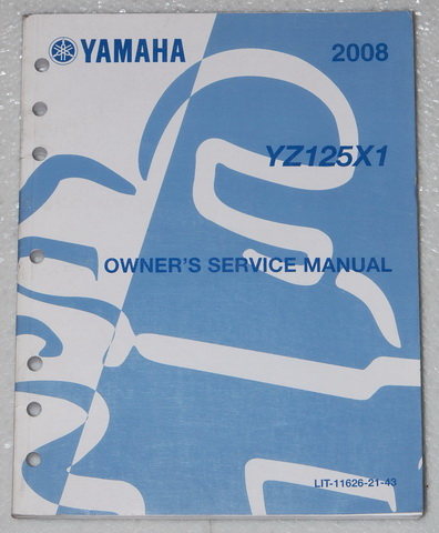 2008 yamaha yz125 original owners service manual yz125x1. Black Bedroom Furniture Sets. Home Design Ideas