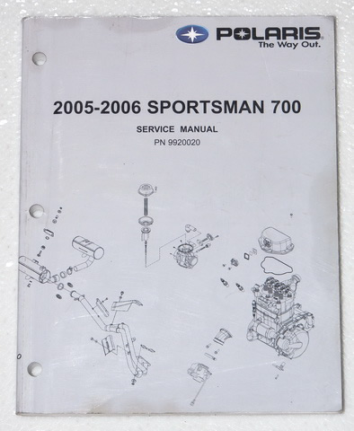 2005 2006    POLARIS       SPORTSMAN       700    Service Manual ATV Factory