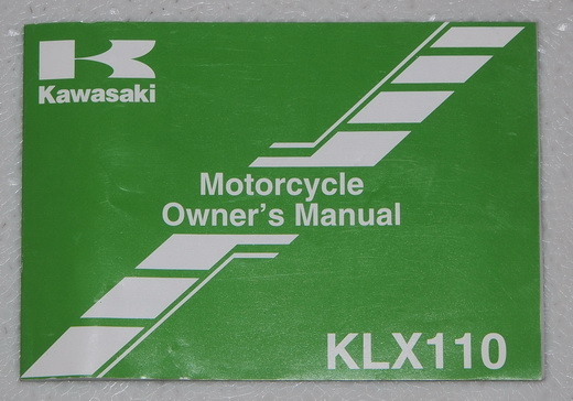2007 Kawasaki KLX110 Original Owners Manual