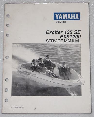 yamaha exciter 135 se jet boat service manual exs1200 oem. Black Bedroom Furniture Sets. Home Design Ideas