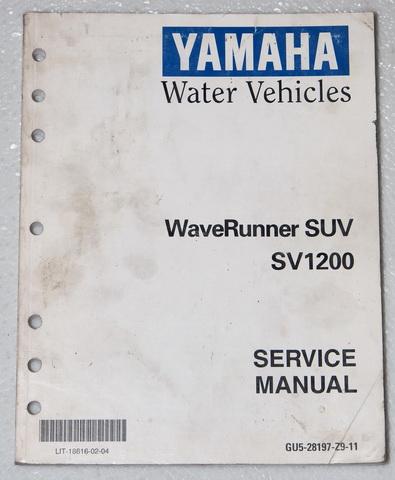 2000 2004 yamaha suv wave runner service manual suv1200. Black Bedroom Furniture Sets. Home Design Ideas