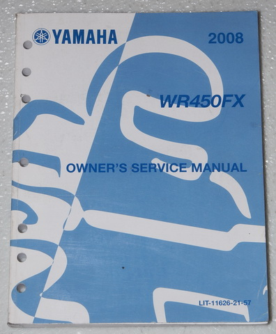 2008 Yamaha WR450F WR450FX Owner's Service Manual