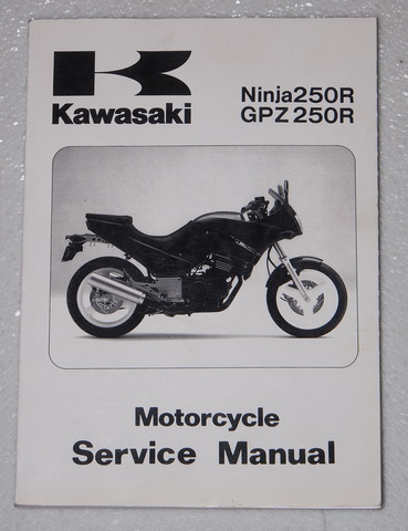 kawasaki ninja 250r gpz 250 r ex250 e1 1986 1987 complete service manual   workshop guide Kawasaki Motorcycles 2012 Kawasaki 250