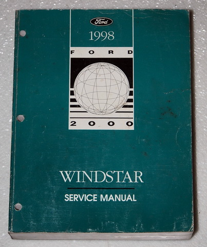 1998 ford windstar factory service manual original shop. Black Bedroom Furniture Sets. Home Design Ideas