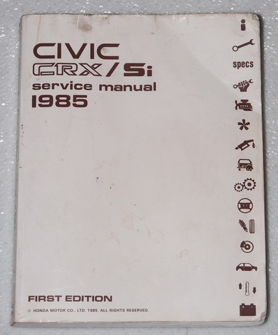 1985 Honda Civic CRX Factory Dealer Shop Service Manuals