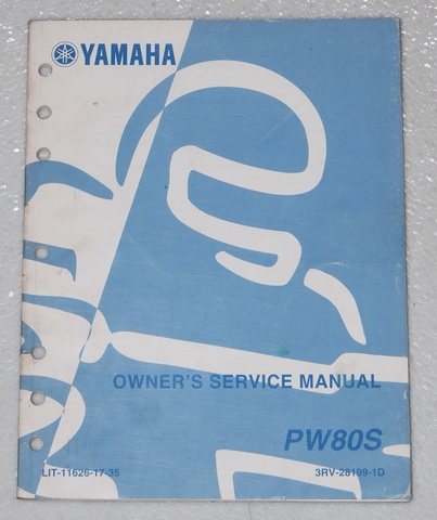 2002 yamaha pw80 owner lsquo s motorcycle service manual