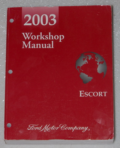 Ford escort 2003 owners manual