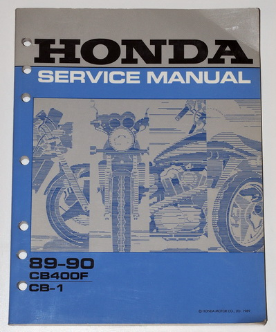 1989 1990 honda cb 1 cb400f motorcycle factory shop. Black Bedroom Furniture Sets. Home Design Ideas
