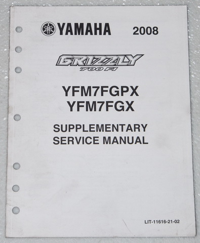 2008 yamaha grizzly 700 fi supplementary service manual. Black Bedroom Furniture Sets. Home Design Ideas