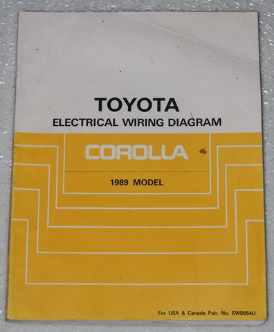 1989 toyota corolla electrical wiring diagrams shop manual fwd awd sr5 gt s ewd. Black Bedroom Furniture Sets. Home Design Ideas