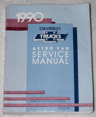1990 Chevrolet Astro Van Factory Service Manuals Factory Dealer Shop Service Manual