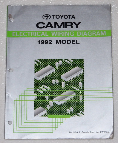 1995 toyota camry electrical wiring diagram 1992 toyota camry electrical wiring diagrams shop manual ...