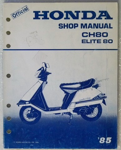 1985 honda elite 80 scooter factory service manual ch80. Black Bedroom Furniture Sets. Home Design Ideas