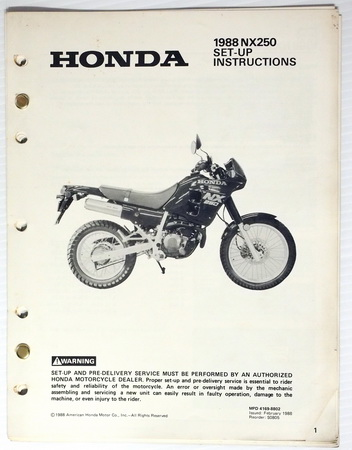 1988 honda nx250 wiring diagram. honda. auto wiring diagram, Wiring diagram