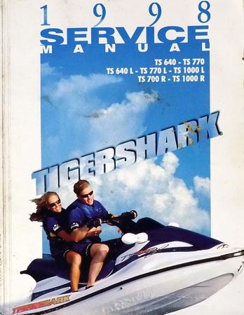 1998 Tigershark Ts 640 700 770 1000 R L Watercraft Service Manual