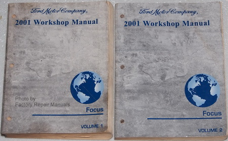 2001 ford focus factory service manual 2 volume set. Black Bedroom Furniture Sets. Home Design Ideas