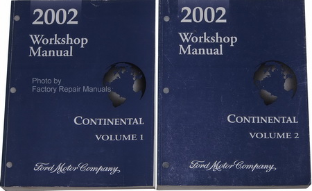 2002 lincoln continental factory service manual set. Black Bedroom Furniture Sets. Home Design Ideas