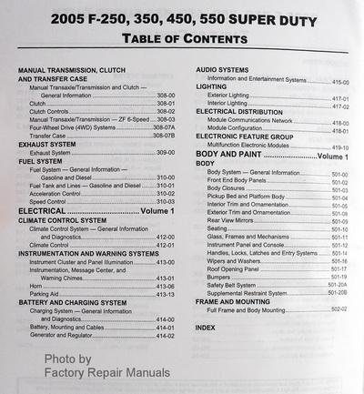 2005 ford f250 f350 f450 f550 super duty truck factory. Black Bedroom Furniture Sets. Home Design Ideas