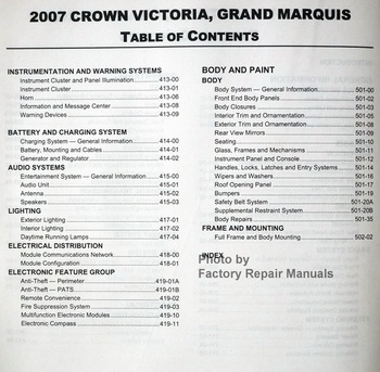 2007 ford crown victoria workshop service repair manuals. Black Bedroom Furniture Sets. Home Design Ideas