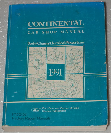 1991 lincoln continental factory shop manual original service repair factory repair manuals. Black Bedroom Furniture Sets. Home Design Ideas
