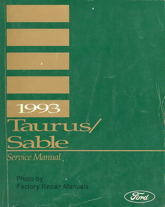 1993 ford taurus mercury sable factory service manual. Black Bedroom Furniture Sets. Home Design Ideas