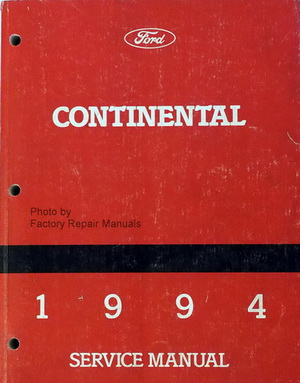 1994 lincoln continental factory service manual original. Black Bedroom Furniture Sets. Home Design Ideas