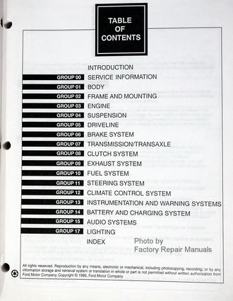 1997 ford contour mercury mystique factory shop service