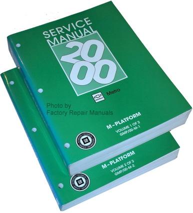 2000 2001 chevrolet metro factory service manual set. Black Bedroom Furniture Sets. Home Design Ideas
