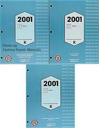 2001 Cadillac Seville Factory Service Manuals
