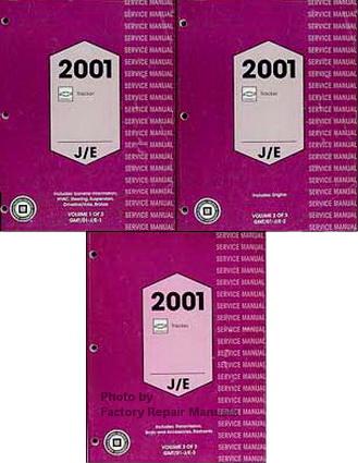 2001 chevy tracker factory service manual 3 volume set. Black Bedroom Furniture Sets. Home Design Ideas