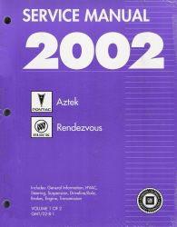 2002 Buick Rendezvous & Pontiac Aztek Factory Service Manuals