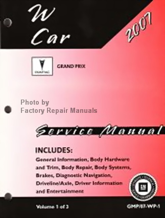 2007 pontiac grand prix repair manual