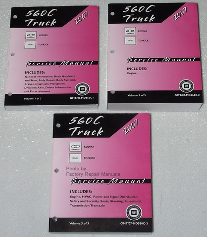 2007 Chevrolet Kodiak & GMC TopKick Trucks Factory Service Manuals