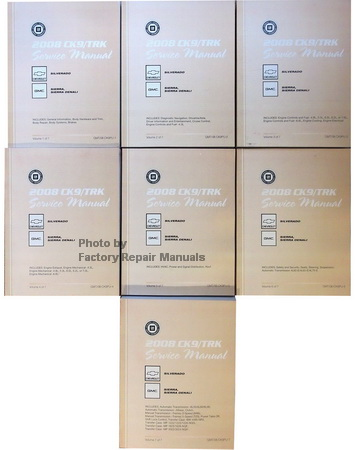 2008 Chevrolet Silverado , GMC Sierra & Sierra Denali  New Style (CK9) Factory Service Manuals