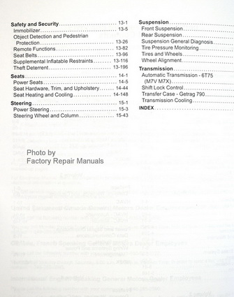 2016 Buick Enclave, Chevy Traverse & GMC Acadia Factory Service Manuals Table of Contents Page 2