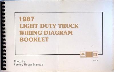 1987 chevrolet light duty truck wiring diagram booklet