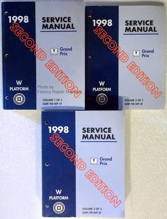 1998 pontiac grand prix factory service manual set 2nd. Black Bedroom Furniture Sets. Home Design Ideas