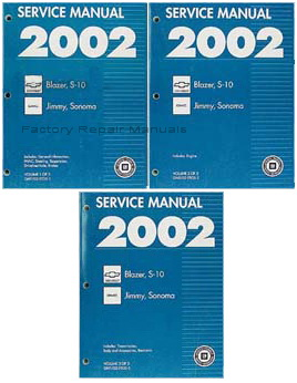 2002 Chevy S10 Pickup & Blazer | GMC S15 Sonoma Pickup & Jimmy Factory Service Manuals