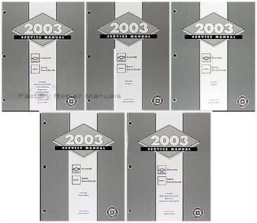 2003 GMC Sierra & Chevrolet Silverado Factory Service Manuals
