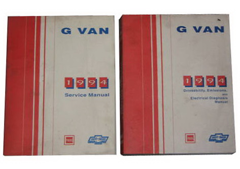 1994 GM G Vans Chevy Vandura GMC Rally Van Factory Dealer Shop Service Manuals