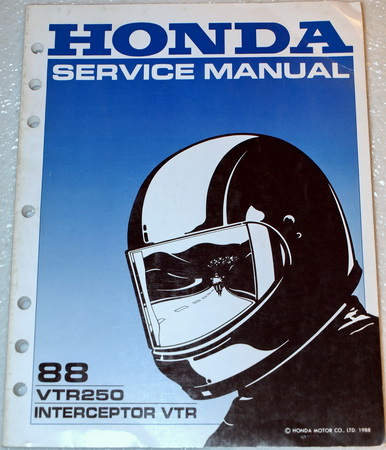 1988 Honda VTR250 Factory Dealer Shop Service Manual