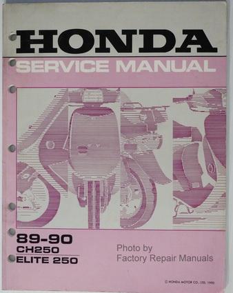 1989 1990 honda elite 250 scooter factory service manual. Black Bedroom Furniture Sets. Home Design Ideas