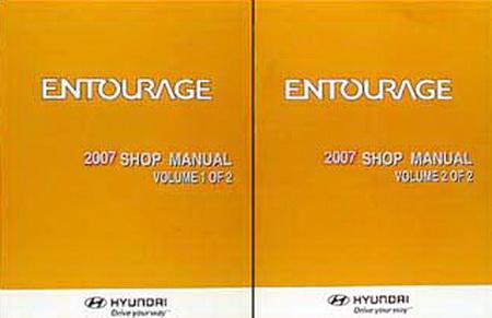 2007 hyundai entourage factory shop manual set new. Black Bedroom Furniture Sets. Home Design Ideas