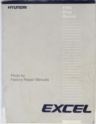 1990 hyundai excel factory service manual original shop. Black Bedroom Furniture Sets. Home Design Ideas