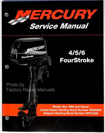 mercury outboard 4 5 6 hp 4 four stroke shop service manual 99 00 01 rh factoryrepairmanuals com 200 HP Mercury Outboard Motor Mercury Outboard Service Manual PDF