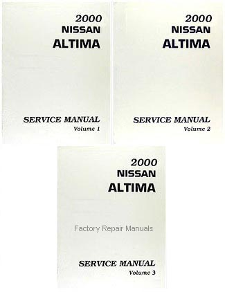 2000	Nissan Altima Factory Service Manuals