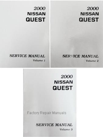 2000 nissan quest factory service manual complete 3 volume set rh factoryrepairmanuals com 2001 Nissan Altima 2001 Nissan Sentra